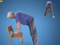 Sprongen met stoel