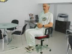 Knieheffen op stoel
