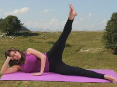 Pilates side kicks variations