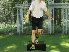 Beenspieren kniestabiliteit afstapje voorwaarts