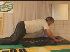 Romp stabiliseren bij glijbeweging