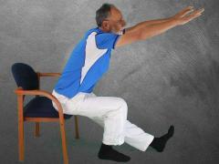 Yoga op de stoel